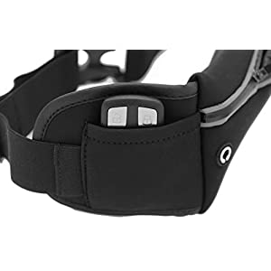 i2 Gear Running Belt, Waist Pack & Jogging Belt Phone Holder with Pouch - Compatible with iPhone 11, iPhone Pro Max, iPhone XS, iPhone 8, 7, 6 & Galaxy S10, S9, Pixel 4 XL, LG, Moto (Black)