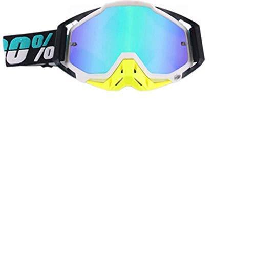 Carolilly - Gafas de motocross para motocicleta, gafas de esquí, gafas de snowboard para hombres y mujeres, con aislamiento antivaho, resistente al viento, a prueba de polvo