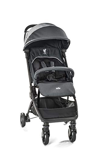 Joie Pact Flex LFC Pushchair/Stroller, Black Liverbird Joie Suitable from birth with flat reclining seat Lightweight chassis, with easy and compact fold Pairs perfectly with Joie Gemm, i-Gemm, i-Snug and i-Level car seats 1