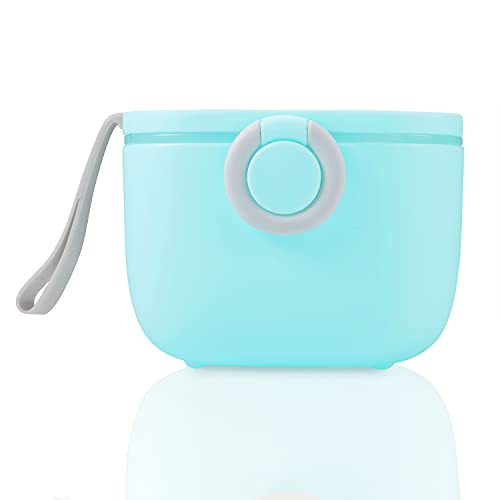 PandaEar Baby Infant Formula Dispensers Mixers| Portable Container Scoop Included| Travel Outdoor Activities (Blue)
