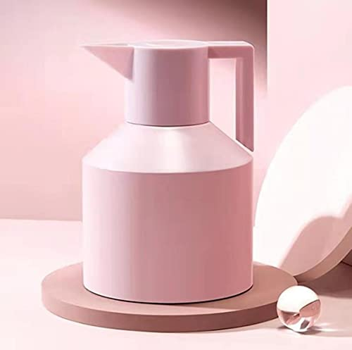 304 de acero inoxidable de gran capacidad, frascos con aislamiento para el hogar, hervidor, doble capa, vacío, té, café, termo, olla, botella de agua caliente, 1200 ml, rosa