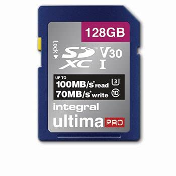 Integral 128GB SD Card 4K Ultra-HD Video Premium High Speed Memory Card...