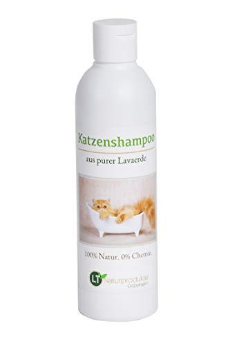 Champú para gatos | Orgánico | Libre de químicos y jabones | Hipoalergénico | Contra el picor | Con tierra de lava marroquí original | 250ml | Para pelos cortos y largos | Para pelo brillante