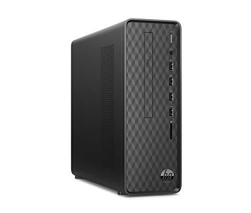 HP Slim S01-aF0002ng Desktop (Intel Celeron J4005, 8GB DDR4 RAM, 1TB HDD, 256GB SSD, Intel UHD Graphik 600, FreeDos) schwarz