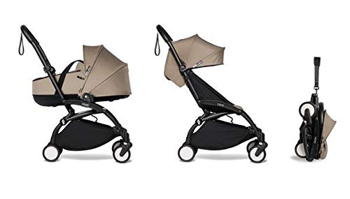 Babyzen - YOYO2 Stroller & Bassinet Combo - Black Frame - Taupe (9 Colors)