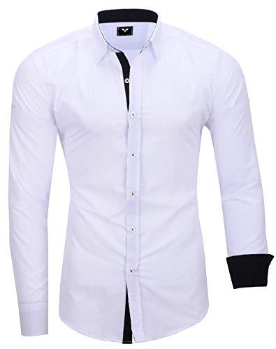 Kayhan Herren Hemd, TwoFace Weiss XL