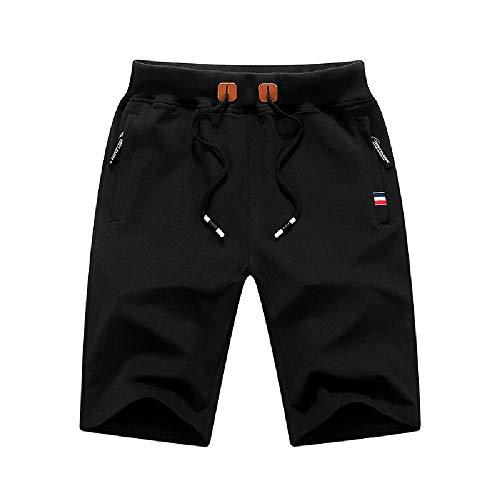 U/A Pantalones Cortos De Hombre De 5 Puntos Pantalones Casual Sueltos De Verano Pantalones De Hombres De 7 Puntos Pantalones De Playa Grande Calzoncil Negro Negro ( 4X-Large