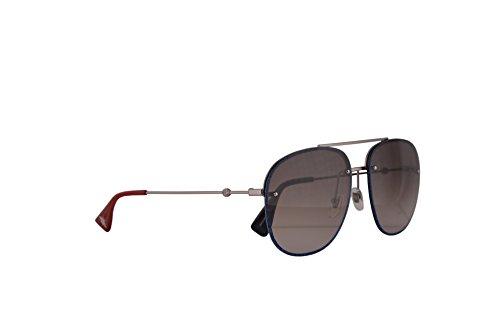 Gucci GG0227S gafas de sol w/Brown Gradient lente 62mm 002 GG0227 / S GG 0227 / S GG 0227S mujer Rutenio Grande