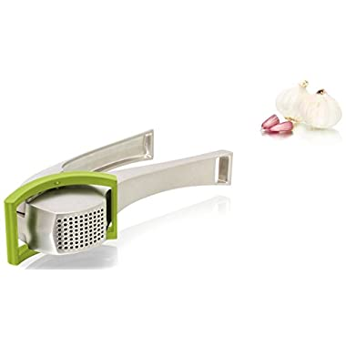Tomorrow's Kitchen  Heavy-Duty Aluminium Garlic Press with Scraper