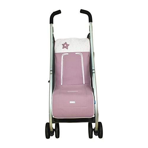 Colchoneta o funda de Paseo para silla Ligera Rosy Fuentes en color rosa empolvado