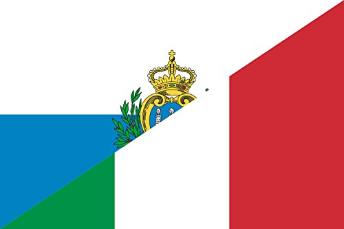 magFlags Flagge: Large Italian Language IT-SM | Italian Language of Italy-San Marino | Querformat Fahne | 1.35m² | 90x150cm » Fahne 100% Made in Germany