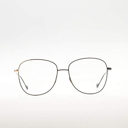 Caroline Abram Paris - Occhiali da vista a goccia in metallo bicolore per donna - VLADYA NERO|ORO ROSA - 56/16/138mm, Nero