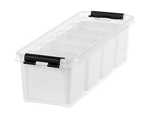 Orthex 3458010 Smart Store Classic 4 mit 4 Einsätzen Clipbox, PP, transparent, 38 x 14 x 11 cm