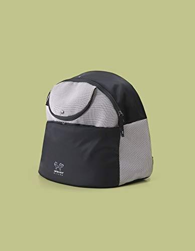 United Pets Urban Reverse Backpack - Zaino per Cani, Trasportino Morbido e Leggero per Cani, di Design, Zaino con Spalline da Viaggio, Nero/Verde