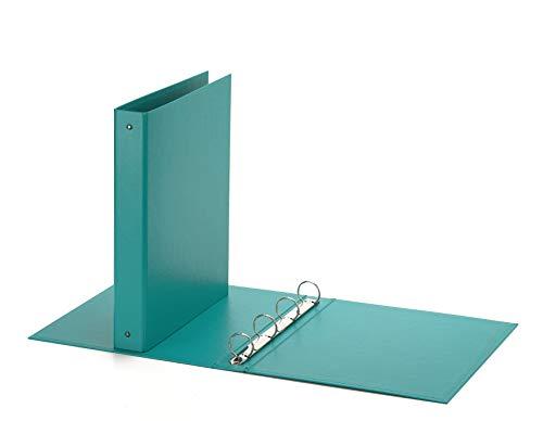 Favorit Raccoglitore a Quattro Anelli Tondi, Formato 22 x 30 Cm, Verde Acqua