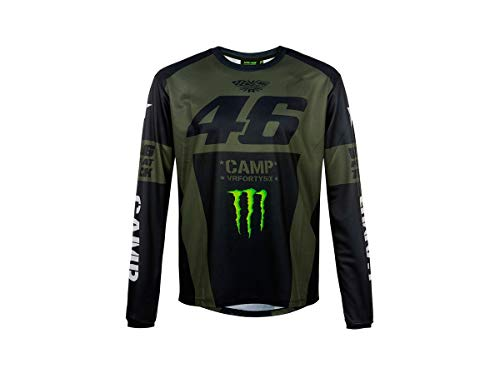 VALENTINO ROSSI Camp Monster Dual T-Shirt à Manches Courtes pour Homme, XXL Vert (Vert).