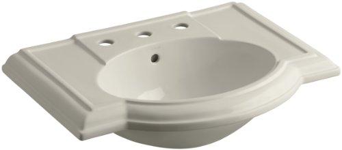 "KOHLER K-2295-8-G9 Devonshire Bathroom Sink Basin with 8"" Centers, Sandbar"