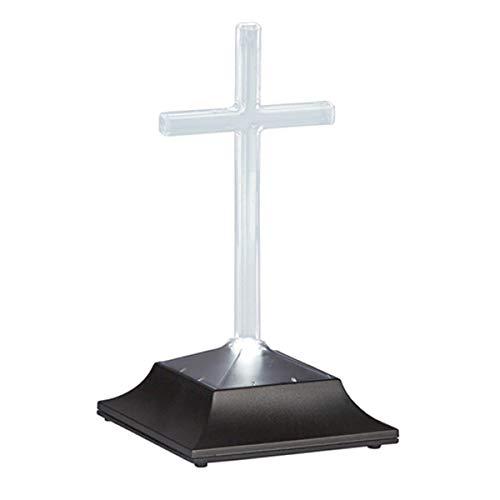 Religious Solar Remembrance Cemetery Cross Grave Memorial Light, 9 1/2 Inch