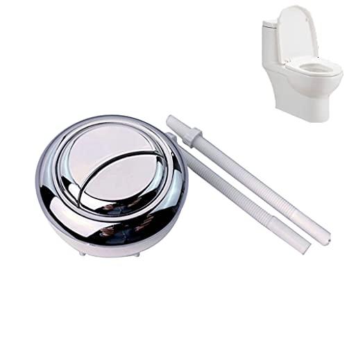 LIZHILIAN Tanque de Agua Conectado con botón de Descarga Doble, llenado de Cisterna de Inodoro, válvula de Drenaje de Entrada, Kits de reemplazo para Tanques de Inodoro, sifón