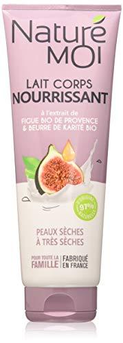 Naturé Moi – Lait corps nourrissant à l'extrait de figue bio de Provence et au beurre de karité bio – Nourrit et assouplit les peaux sèches à très sèches – 250ml