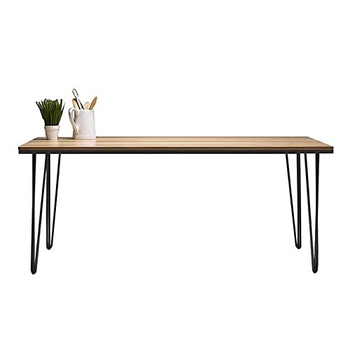 Mesa de Ordenador Escritorio minimalista de madera ORDENADOR PERSONAL Escritorio 0.8m 1.0m 1.2m 1.4m Home Office WorkStation Stable Metal Frame 1.1 'Tabla de escritura de estudio grueso Escritorio de