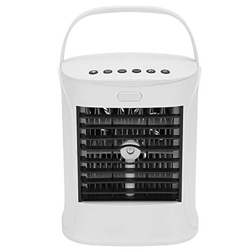 Lazmin112 Mini Enfriador De Aire, Humidificador, Altavoz Bluetooth con LED De 7 Colores, 3 Modos De Velocidad del Viento, Humidificador De Ventilador De Tanque De Agua De 500 Ml