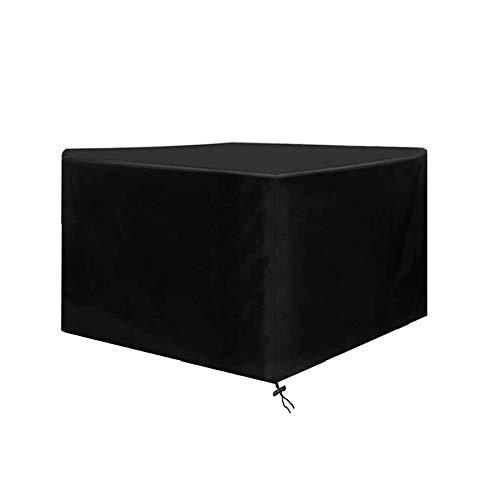 RTYUI Cubiertas para Muebles para Exteriores 420D 126 * 126 * 74Cm Cubierta De Mesa De Jardín Rectangular Impermeable Tela Oxford De Alta Resistencia Cubiertas para Muebles De Patio Negro Resisten