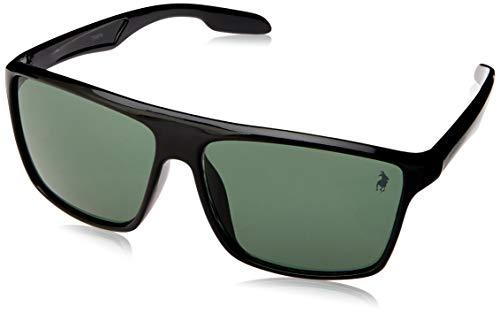Óculos de Sol Polo London Club lente com Proteção UVA/UVB - Kit acompanha com estojo e flanela, Casual preto