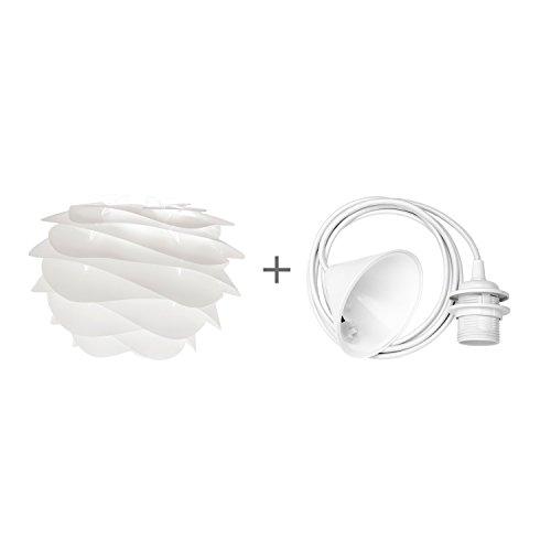 Umage/VITA Carmina Mini Hängeleuchte für A++ bis E inkl. Kabel und Fassung weiss, 32 x 22 cm Lampe