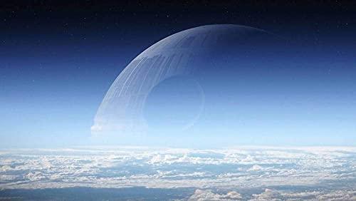 Rompecabezas - 1000 piezas, atmósfera, día de la guerra de las galaxias, espacio, estrella de la muerte, rompecabezas para adultos y niños,juego familiar divertido de descompresión intelectual