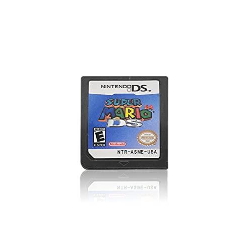 Zchunrong Cartucho de Juego Cartucho de Consola Tarjeta Poker Series Black White Heartgold Soulsilver Diamond Pearl Platinum Fit for Nintendo CC (Color : Super Mario 64 DS)