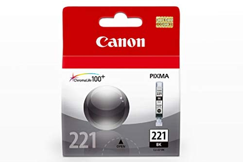 Canon CLI-221BK Ink Cartridge Black In Retail Parking