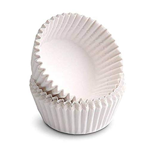 Happy Sales Giant Muffin Cups, White, Pack Of 100