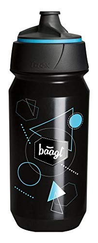 Baagl Trinkflasche für Kinder, Schule 0.5l - ECO Wasserflasche BPA Frei und Auslaufsicher - Sport Flasche für Fussball und Gym (Blue)