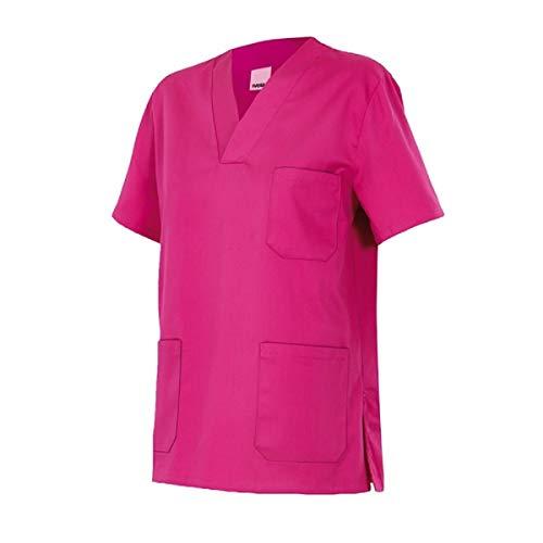Velilla 589/C23/T6 Camisola pijama de manga corta con escote en pico, Fucsia, 6