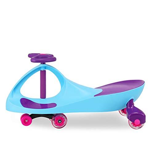 Moolo Coche Giratorio para niños,Swing Car Juguete Swing Wiggle gyro Scooter Giratorio Regalo Divertido Rueda para niños Uso al Aire Libre Rueda silenciosa correpasillos