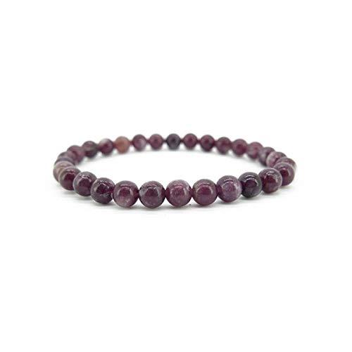 Pulsera de Lepidolita 6mm Minerales y Cristales, Belleza Energética, Meditacion, Amuletos Espirituales