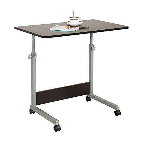 Mesa plegable moderna de madera, escritorio con soporte de altura ajustable, mesa auxiliar inclinable para computadora portátil, mesa auxiliar para cama, sofá, hospital, enfermería, lectura, comer, b
