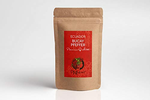 Pfefferbraut Bucay Pfeffer 70g Piper Nigrum aus Ecuador - heiss geräuchert - extremes Geschmackserlebnis - gute Schärfe