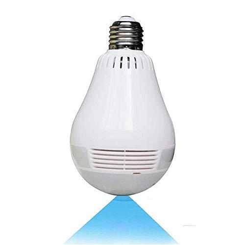 Wireless 360° Panoramic Bulb Camera P8 - COSULAN 1080P Security Light Camera - WiFi Surveillance IP Camera Lamp - V380 Pro, 3D, VR, Fisheye, Motion Detection Alarm, Night Vision, Two Way Communication