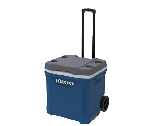 Igloo Nevera portátil Latitude 57 litros Roller Azul Ruedas, Camping-Deportes, 56 x 45 x 51