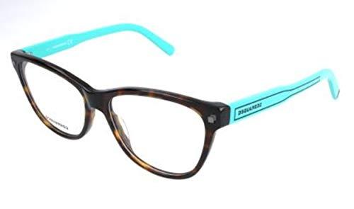 Dsquared DQ5203 005 -54 -15 -140 D Squared Brillengestelle DQ5203 005 -54 -15 -140 Rechteckig Brillengestelle 54, Braun