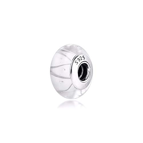 925 Sterling Silver Pandora Ladies Bracelet Jewelry Beads White Murano Glass Charms Original Fit S Charm For Making Women Glamour Girl Gift
