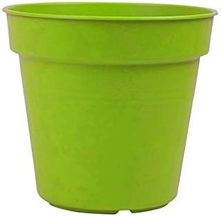 اصيص زرع دائري بلاستيك من مينترا - 17 سم، اخضر فاتح