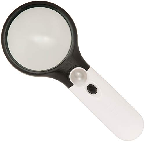 3 LED Magnifying Glass (Hand-held magnifier with built-in light)