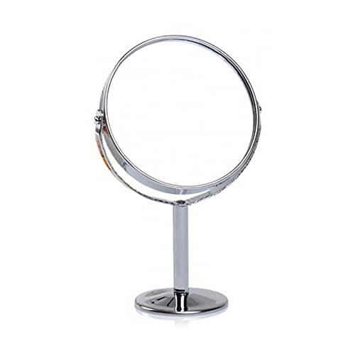 Lsdnlx Espejo para maquillarse,Espejo Giratorio de Doble Cara portátil, Espejos de Maquillaje, Escritorio de Mesa, tocador de pie, Espejo cosmético