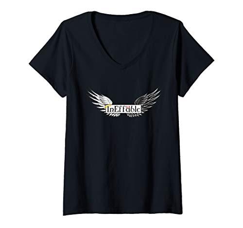 Damen Unbeschreibliches gutes Omen T-Shirt mit V-Ausschnitt