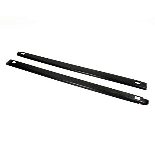 Wade 72-41451 Truck Bed Rail Caps Black Smooth Finish with Stake Holes for 2002-2009 Dodge Ram 1500 2500 with 6.5ft bed (Set of 2)