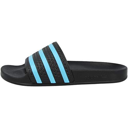 adidas Adilette, Ciabatte Uomo, Nero (Core Black/Blue Glow/Core Black), 40.5 EU