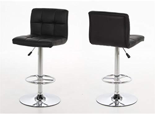 HomestreetUK Hot Barhocker, modernes dänisches Design, hochwertiges schwarzes oder weißes Leder-Optik, Gasdruckfeder Schwarz